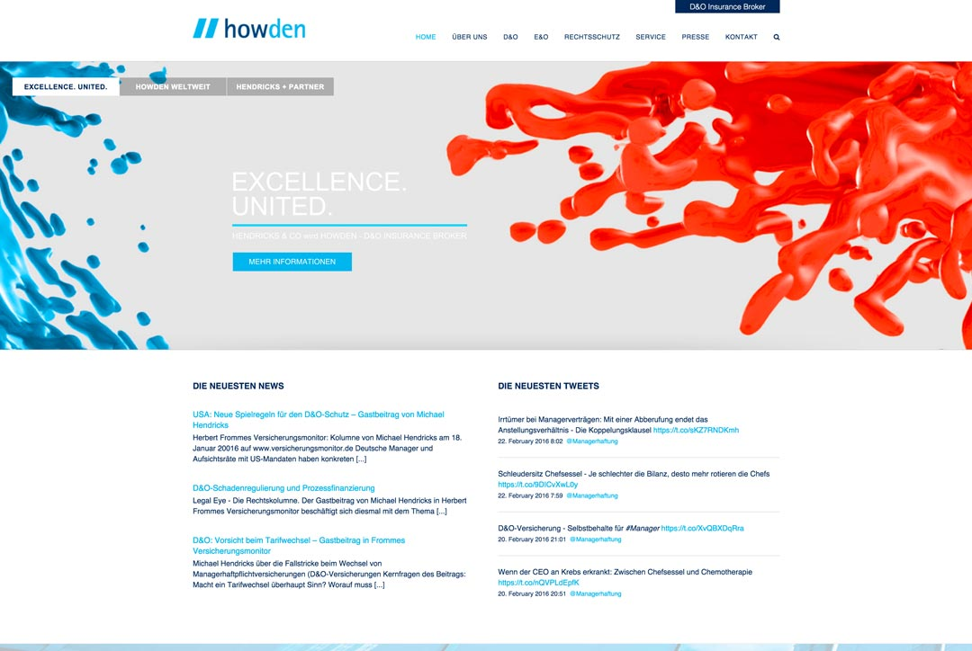 Webdesign Howden Group